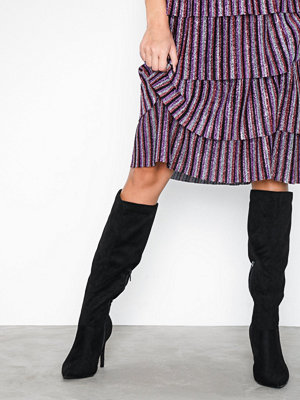 New Look Suedette Knee High Pointed Stiletto Boots