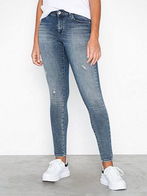 Only onlCARMEN Reg Sk Dnm Jeans REA1623 Blå
