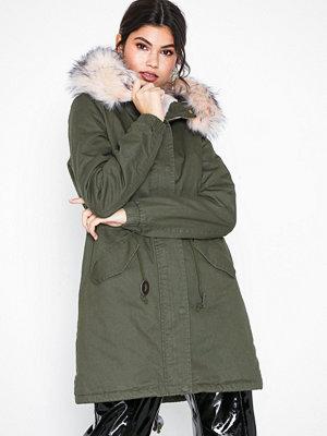 Glamorous Long Parka Jacket Khaki