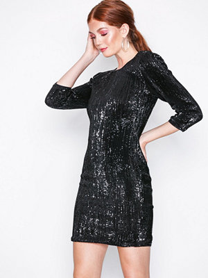 NLY Trend Sequin Power Dress Svart