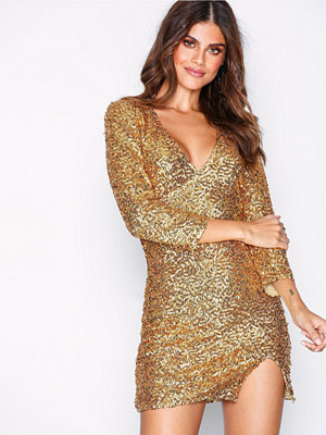 NLY One Fierce Sequin Dress Guld