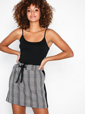River Island Lil Side Check Skirt Brown