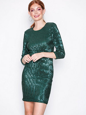NLY Trend Sequin Power Dress Grön