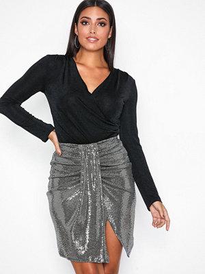 Kjolar - NLY One Sequins Skirt Silver