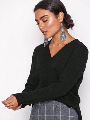 Only onlLESLY V-Neck Pullover Ex Knt Svart