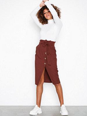 River Island Plain Skirt Brown