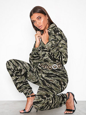 Missguided Camo Utility Jumpsuit Green