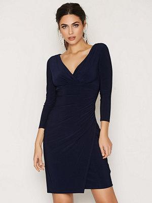 Lauren Ralph Lauren Elsie-3/4 Sleeve-Day Dress Navy