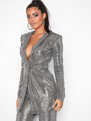 Nly One Sparkle Blazer Dress Silver