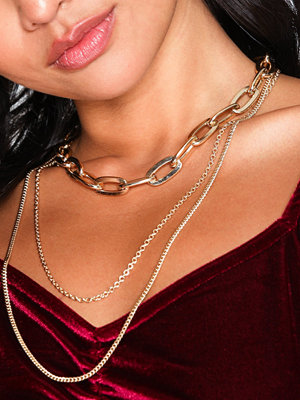 NLY Accessories halsband Thick Multirow Necklace