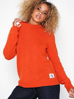 Calvin Klein Jeans Shetland Wool Crew Neck Red