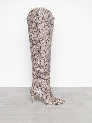 NLY Shoes Snake Thigh High Boot Snake