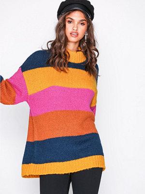 Vero Moda Vmwine Stripe Ls Highneck Blouse Gul