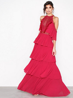 True Decadence Flounce Gown Dress Raspberry