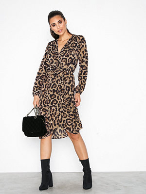Ax Paris Leopard Wrap Dress Multi