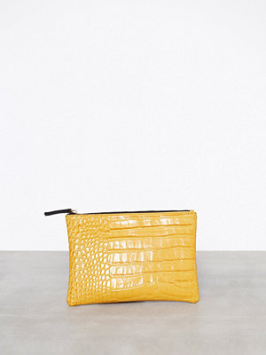NLY Accessories gul kuvertväska Zip Clutch Mustard