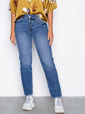 Gina Tricot Sanna staight jeans Mid Blue