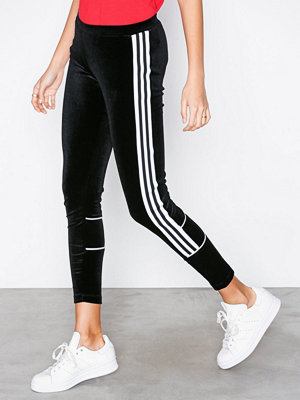 Leggings & tights - Adidas Originals Velour Tights Svart