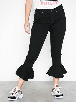 Vero Moda Vmseven Mr Skinny Flounce Hem Jeans Svart