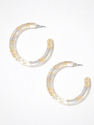 NLY Accessories örhängen Trapped Gold Hoops Transparent