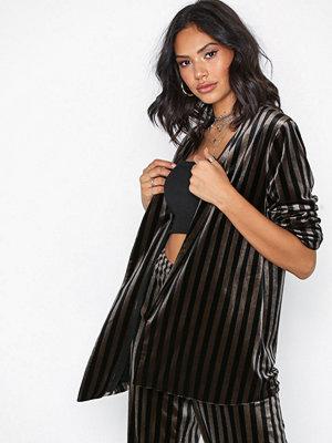 MOSS Copenhagen Rasmine Blazer Black Stripe