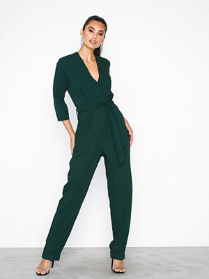 Closet Cross Over Jumpsuit Green