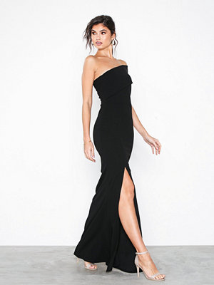 Missguided One shoulder maxi dress Black