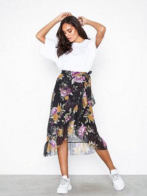 Kjolar - Pieces Pclulu Medi Mesh Skirt D2D Ljus Brun