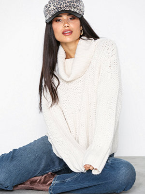 Topshop Chunky Roll Neck Jumper Ivory