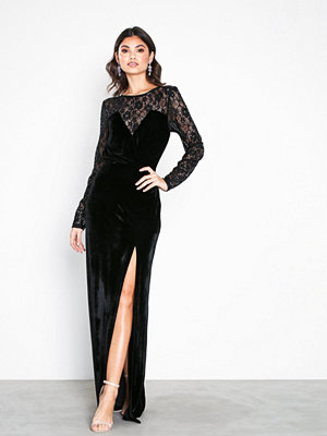 NLY Eve Lace Insert Velvet Gown