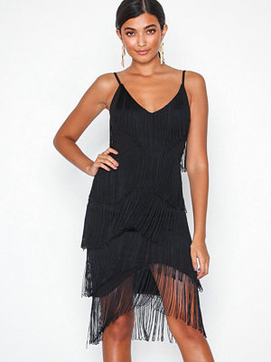 NLY One Fringe Dress Svart