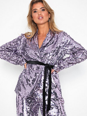 NLY Trend Sequin Robe Blazer Lila