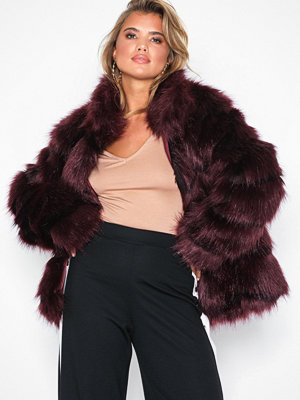 NLY Trend Fluffy Fur Jacket Wine