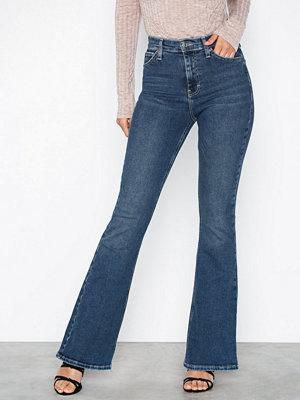 Topshop MDT Jamie Flare Jeans Mid Blue