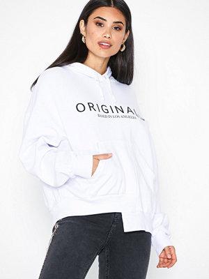 Topshop 'Originals' Logo Hoodie White