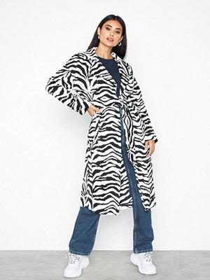 Topshop Zebra Print Duster Jacket Monochrome