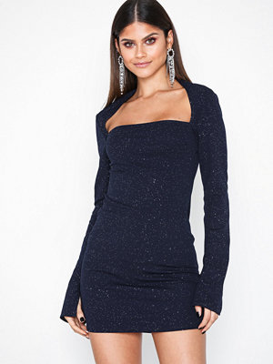 NLY One Square Neck Glitter Dress
