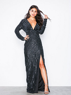 NLY Eve Shaped Sequin Gown Svart