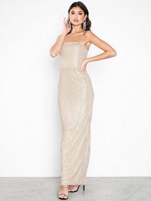 NLY Eve Tube Sequin Gown Champagne