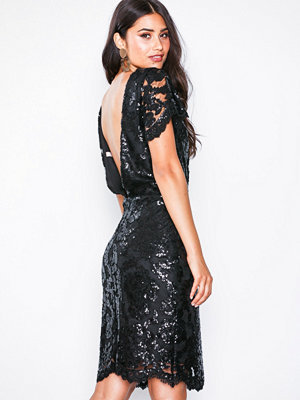 NLY Eve Sequin Lace Bodycon Dress Svart