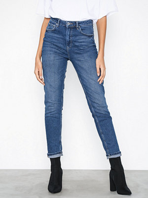 Gina Tricot Leah Slim Mom Jeans Dark Blue