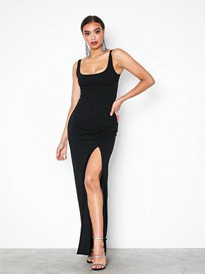 NLY One Split Maxi Dress Svart