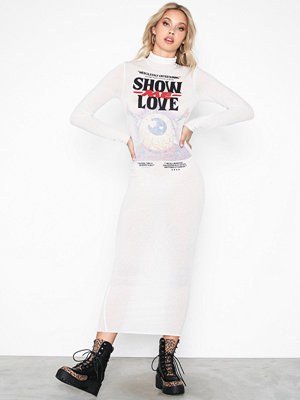 Cheap Monday Damned dress Love poster Beige