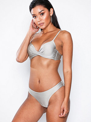 NLY Beach Brazilian Bikini Panty Silver