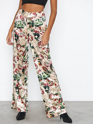 NLY Trend mönstrade byxor Straight Velvet Pants Print