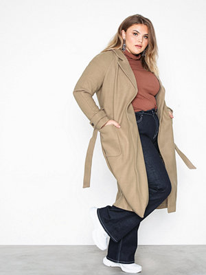 Only onlVALERIE Long Wool Coat Otw Ljus Grå