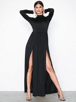 NLY One Double Slit Ls Dress Svart