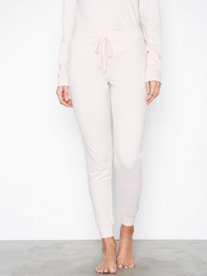 Pyjamas & myskläder - Lindex Stripe Night Trousers Light Pink