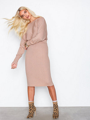 NLY Trend Lurex Knit Skirt Rosa