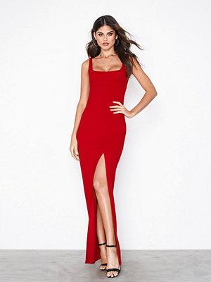 NLY One Split Maxi Dress Röd